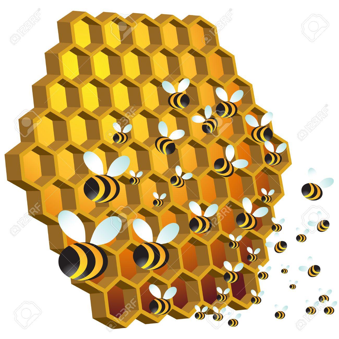 Hive pea s . Bees clipart honey bee