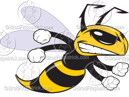 Cartoon clip art graphics. Bees clipart hornet