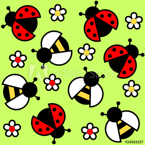 Ladybugs clipart bee. Bees and buy this