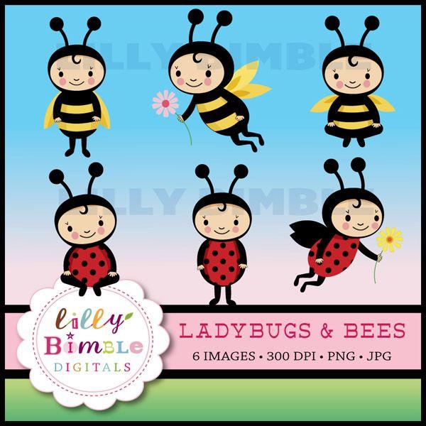 Bees clipart ladybug. Ladybugs super cute baby