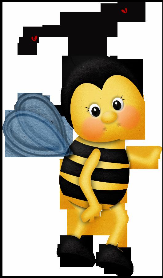 Material para la escuela. Clipart bee ladybug