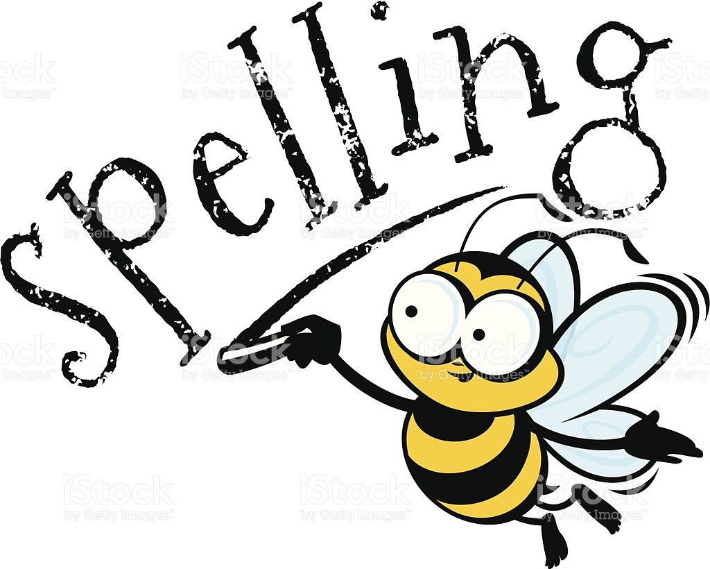 Bumblebee spelling bee and. Bees clipart pencil