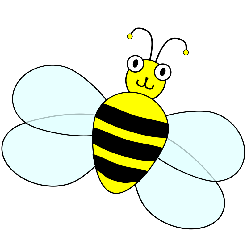 Positive bee and in. Bees clipart pencil