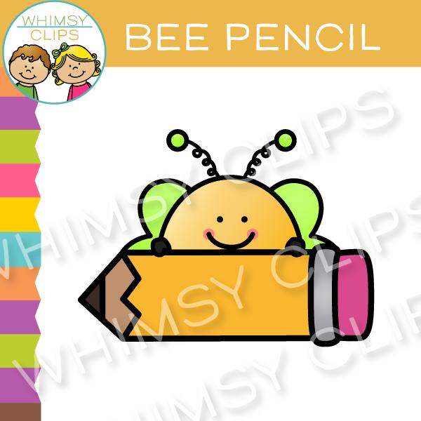 Clip art images illustrations. Clipart bee pencil
