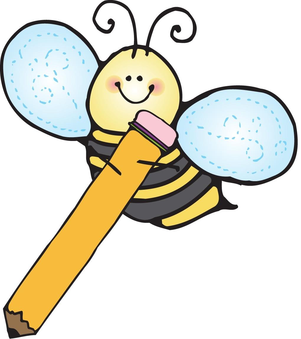 Wonderful of writing letter. Bees clipart pencil