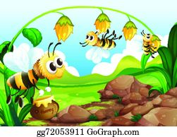 Pollination clip art royalty. Bees clipart pollinator