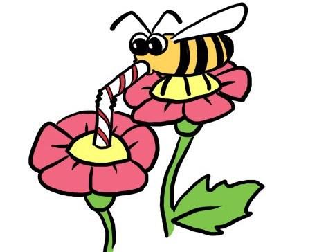 Bees clipart pollinator. Lantana camara pollination laidback
