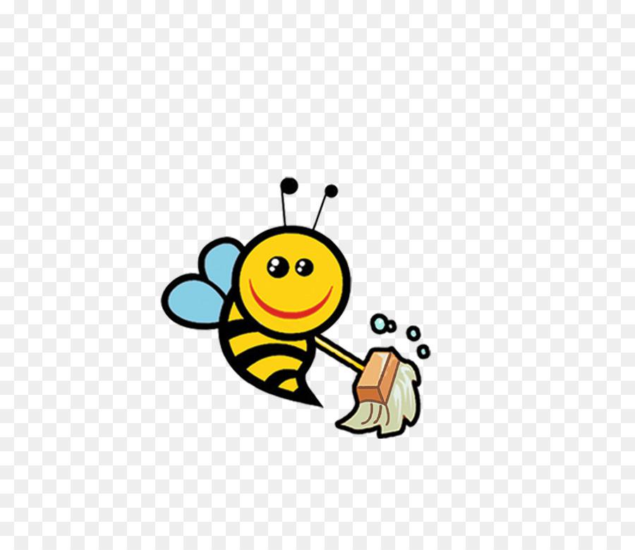Bumblebee cleaning clip art. Bees clipart queen bee