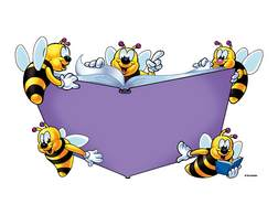 Linda tillman and the. Bees clipart reading