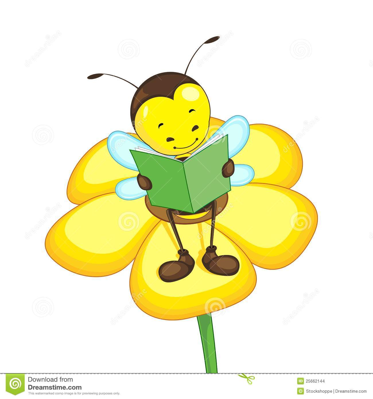 Bee a reader . Bees clipart reading