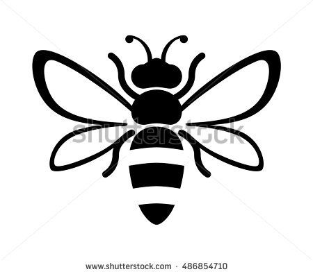 Graphic illustration of honey. Bees clipart silhouette