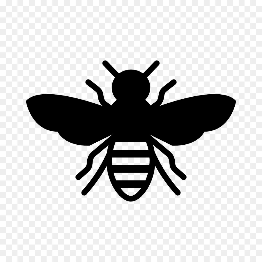 Bees clipart silhouette. Bee cartoon wing transparent