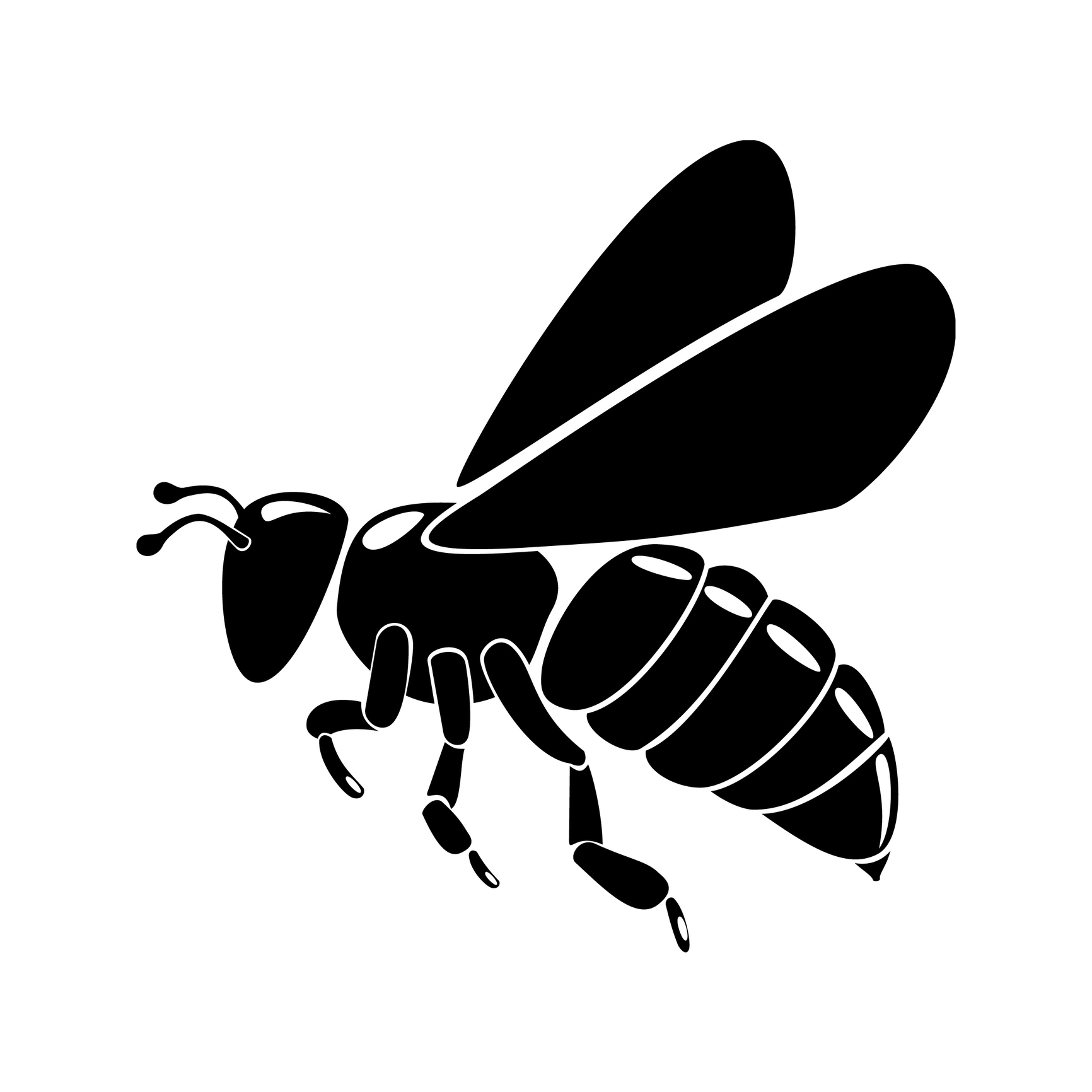 Bee clipart silhouette. Protection