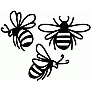 Bees clipart silhouette. I think m in