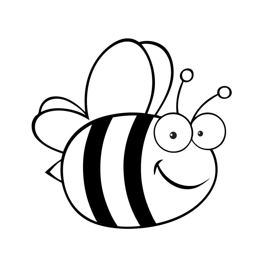 Bumble bee scientific drawing. Bees clipart sketch