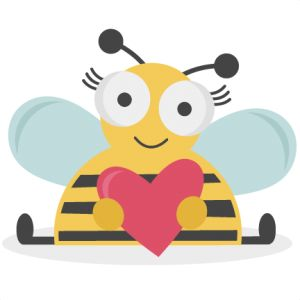 Bee clipart valentines day.  best knk goggas