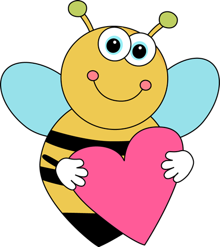 Bees clipart valentines day. Free bee valentine cliparts