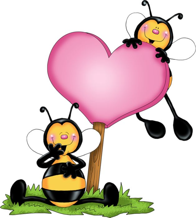 best valentine clip. Bees clipart valentines day