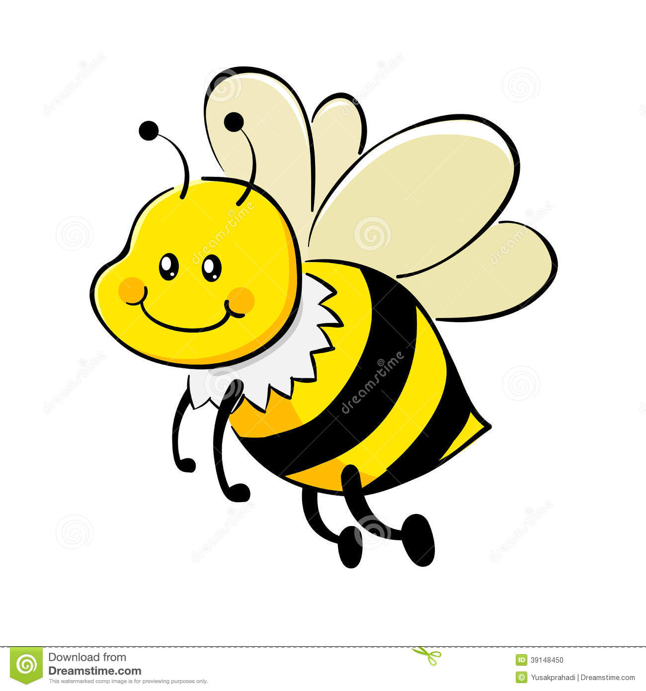 Bees clipart vector.  collection of cute