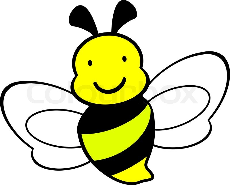 Honey bee drawing free. Bees clipart vector
