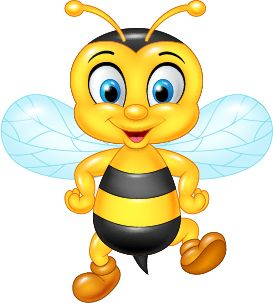 Cartoon cute bee del. Bees clipart vector