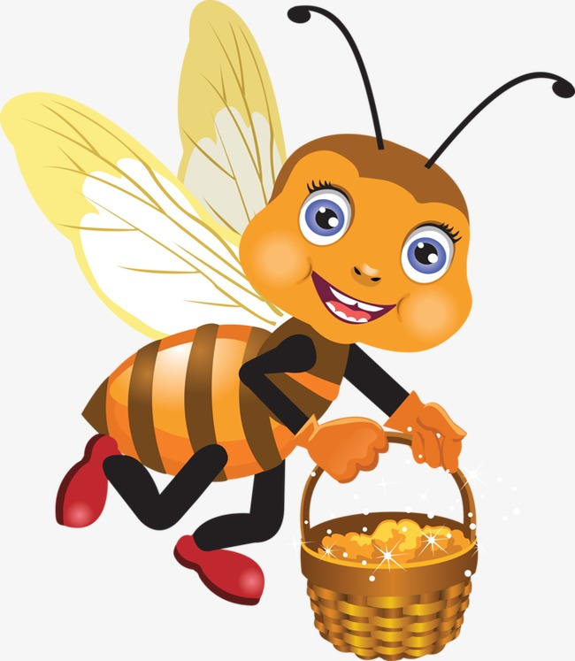 Bees collecting nectar png. Bee clipart worker bee