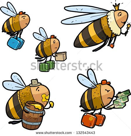 Pin on . Bees clipart worker bee
