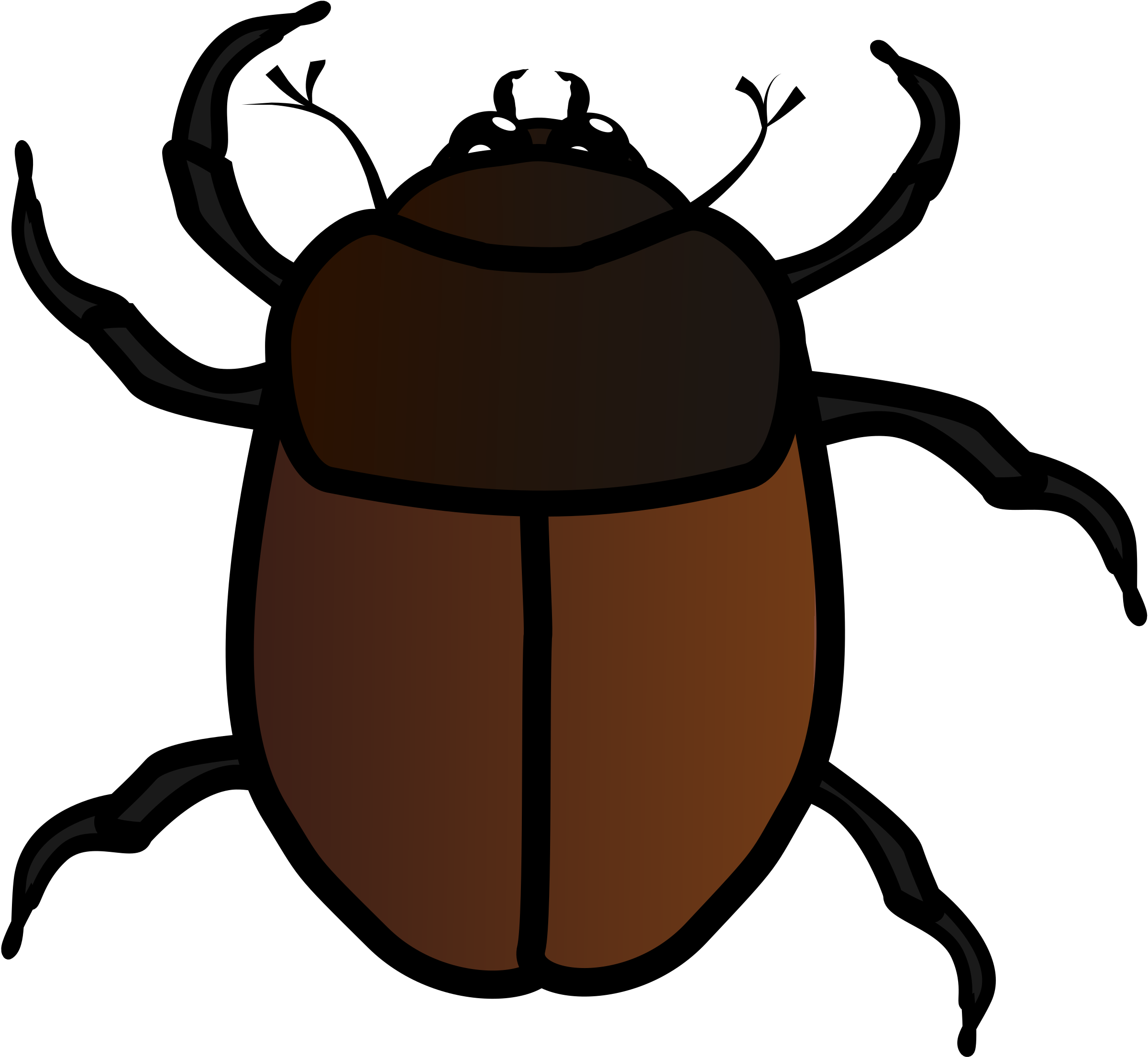 Kid clipart insect. June bug big image