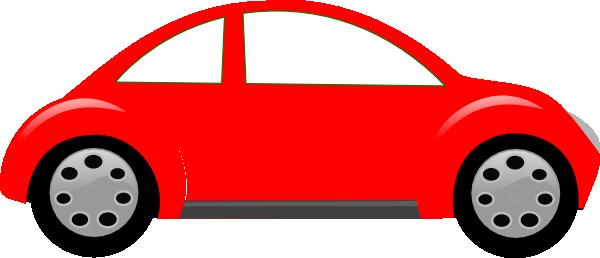 Red cartoon . Beetle clipart car
