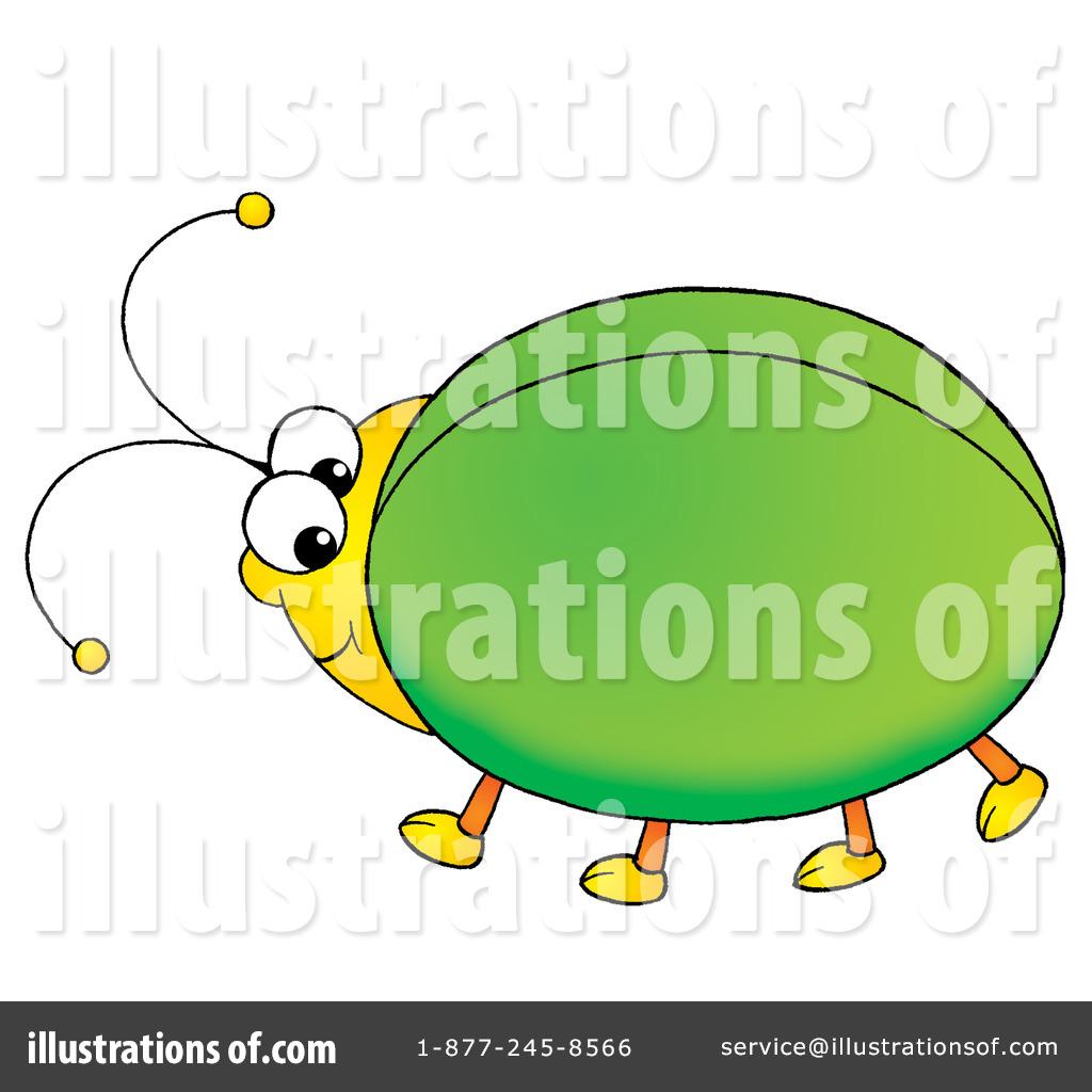 Beetle clipart green beetle. Illustration by alex bannykh
