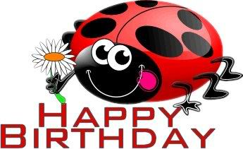 Happy faithnblessed aka ladybug. Ladybugs clipart birthday
