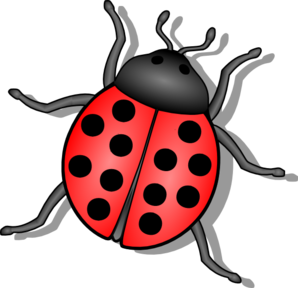 Lady bug clip art. Insect clipart