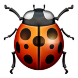 Lady emoji u f. Beetle clipart little bug