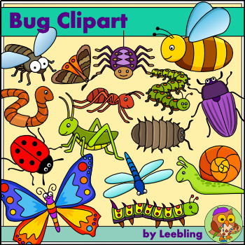 Bug insect and color. Worm clipart minibeast