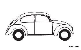 Free coloring pages volkswagen. Beetle clipart outline