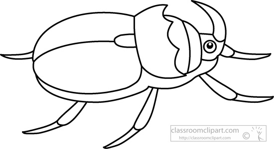 Animals insects black white. Beetle clipart outline