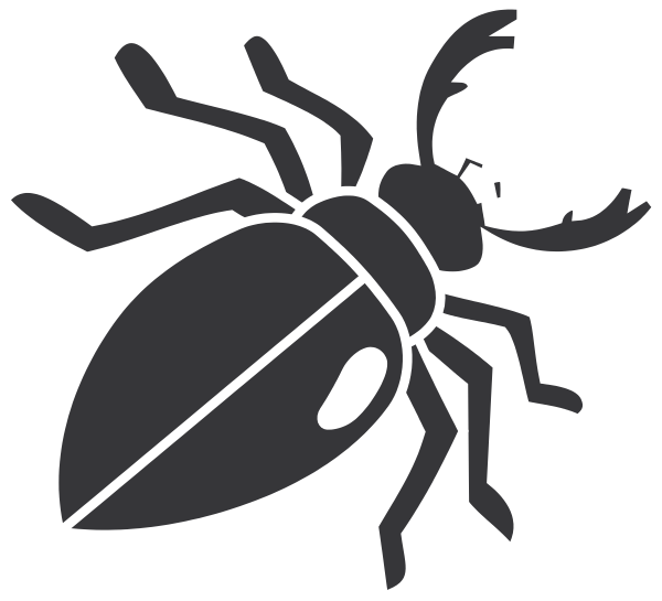 Beetle silhouette clip art. Insect clipart desert insect