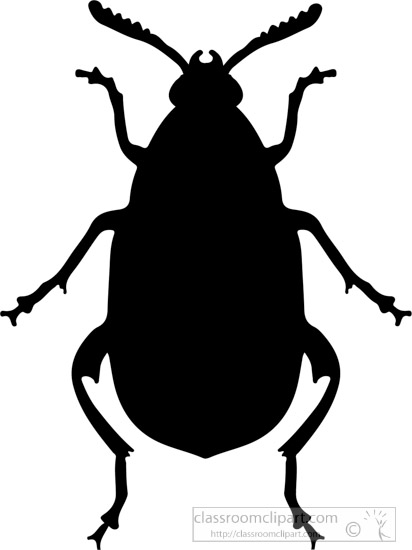 Silhouette at getdrawings com. Beetle clipart simple
