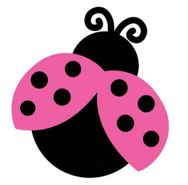 Lady beetle pencil and. Ladybug clipart pink