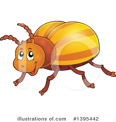 Illustration by visekart royaltyfree. Beetle clipart
