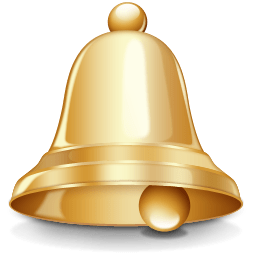 Bell clipart. Gold transparent png stickpng