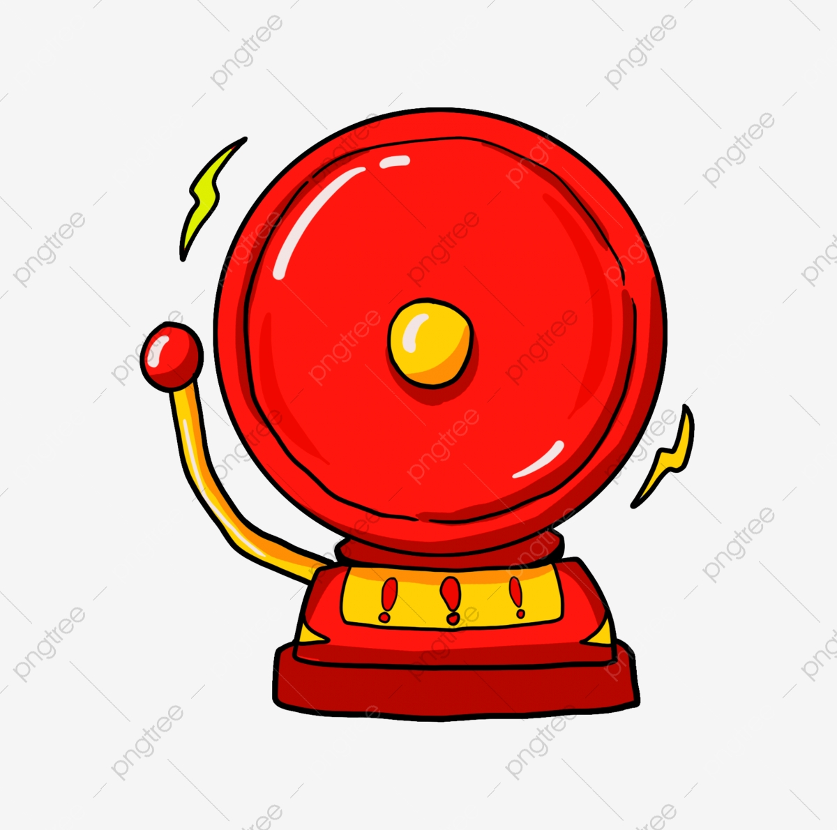 Yellow emergency rescue fire. Bell clipart alarm