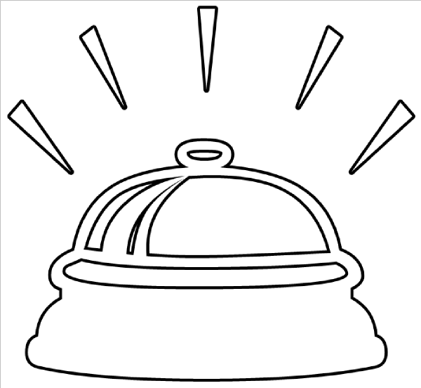 Bell clipart bell ringer. Ringing outline clip art