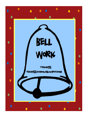 Student behavior and teacher. Bell clipart bell work