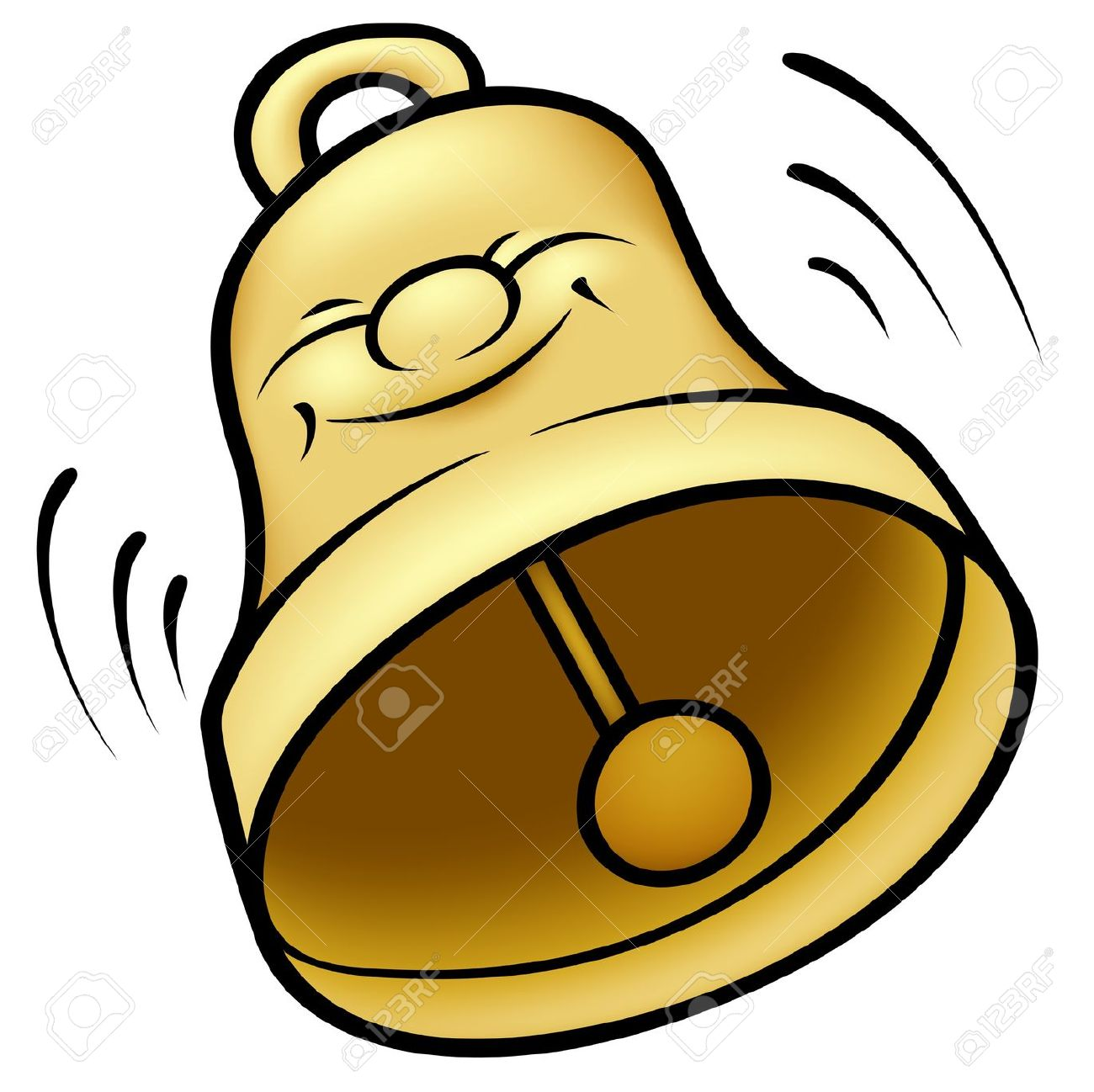 Ringing with sound . Bell clipart bell work