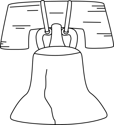 Liberty clip art. Bell clipart black and white