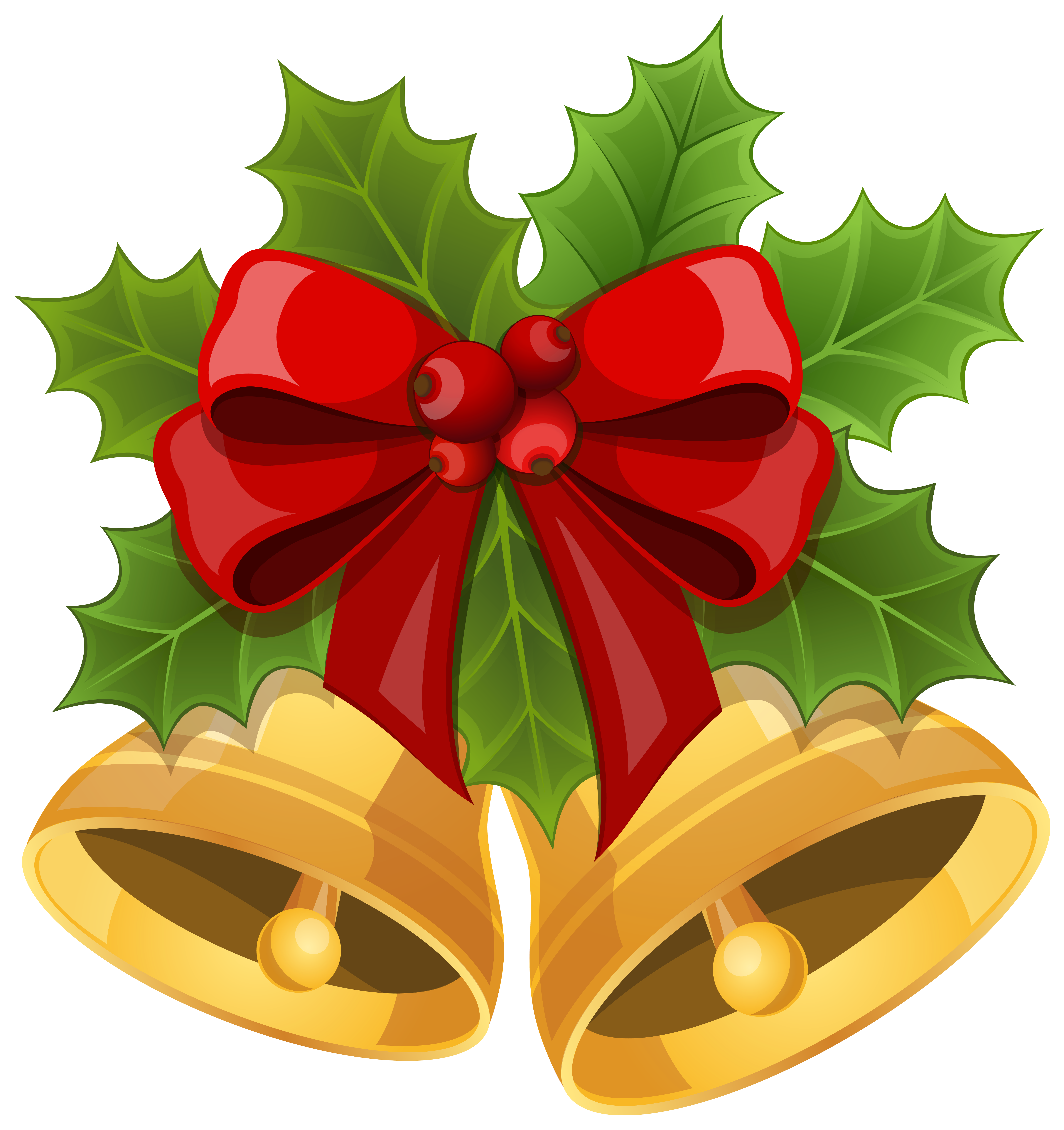 Bows clipart xmas. Christmas bells with bow