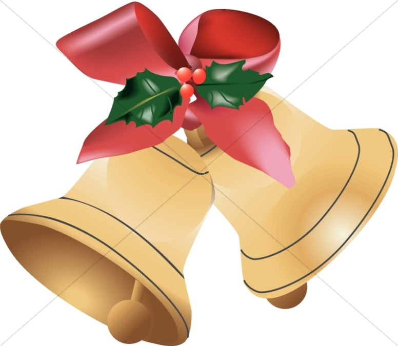 Bells clipart traditional. Golden christmas decoration