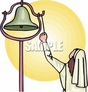 Bell clipart cartoon. A nun ringing