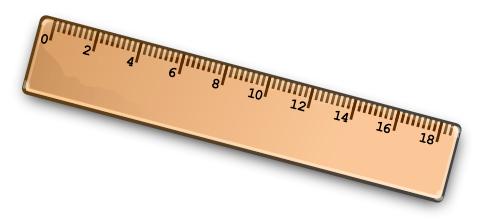 Clipart ruler education. Free classroom items public